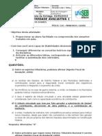 Avaliativa 1 - Legislação Tributária - Entregue