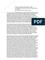 Essay on Sullan Reforms