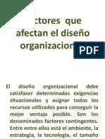 Factores  que afectan el diseño organizacional