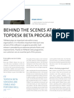 Behind the scenes at the topdesk beta programma