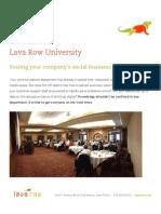 Lava Row University social media certification and training program