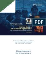 CHUQUISACA IndicadoresSociodemograficosProvinciaMunicipiosChuquisaca