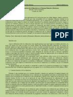 Evaluación en la educación Sistema educ Mexicano. Eleazar Correa González