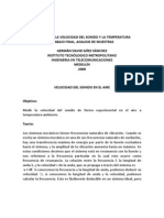 RELACIÓN DE LA VELOCIDAD DEL SONIDO Y LA TEMPERATURA