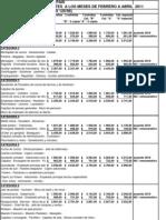 66289_escala Salarial Febrero a Abril 2011 Fehgra Interior Pais