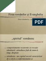 Firea romanilor si Evanghelia.ppt