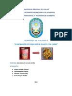 Tecnologia de Vegetales II - Informe 1 -Conserva de Olluco Con Carne