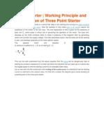 3 Point Starter