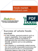 Whole Foods Market vs Fresh Direct