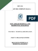 Vol II - Pt Vi - Bills of Quantities_bill No b - Residential Building