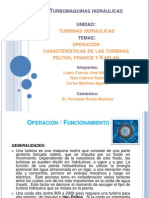 Operacion y Caracteristicas de Pelton Francis y Kaplan
