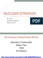3.  Nuclear Strategy