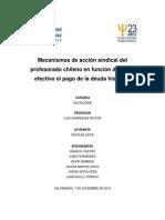 Mecanismos de acción gremial del profesorado chileno en función de hacer efectivo el pago de la deuda histórica