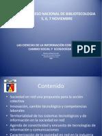Conferencia Nacional Ciencias Informacion Salida Cambio Social Ecosociedad Presentacion