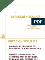 IMITACION VOCALICA