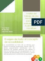 Análisis del trabajo de dos herramientas de guías audiodescriptivas.