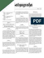 Philip Glass Satyagraha libretto