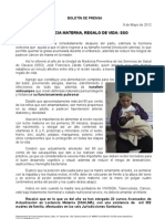 09/05/12 Germán Tenorio Vasconcelos lactancia Materna, Regalo de Vida