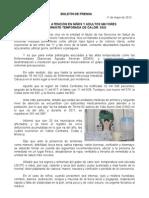 11/05/12 Germán Tenorio Vasconcelos ESPECIAL ATENCIÓN EN NIÑOS Y ADULTOS MAYORES DURANTE TEMPORADA DE CALOR, SSO