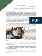 19/05/12 Germán Tenorio Vasconcelos atiende Sso Demandas de Trabajadores Del Hospital Civil