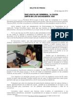 24/05/12 Germán Tenorio Vasconcelos ENFERMEDAD VASCULAR CEREBRAL 3a CAUSA DE MUERTE EN OAXAQUEÑOS