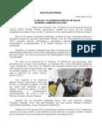 28/05/12 Germán Tenorio Vasconcelos 8a FERIA DE LA SALUD Y 4a AUDIENCIA PÚBLICA DE SALUD EN MARÍA LOMBARDO DE CASO