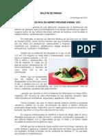 29/05/12 Germán Tenorio Vasconcelos ALIMENTACIÓN RICA EN HIERRO PREVIENE ANEMIA SSO
