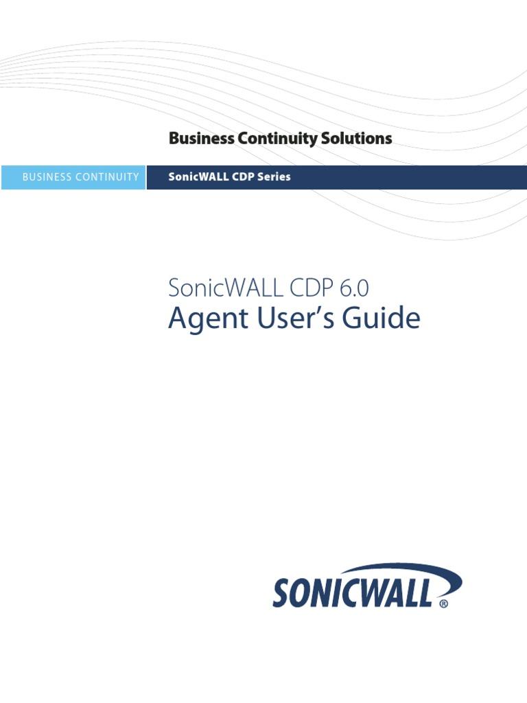 Sonicwall Cdp 6 0 | Backup | Installation (Computer Programs)