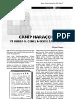 Canip Haraççıoğlu ve Bursa İl Genel Meclisi Zabıtları; Niyazi Topçu