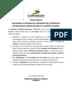 10 PR 2013-X Saludamos la decisión del Presidente de la República de rechazar el pedido de indulto a Alberto Fujimori