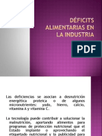 Deficiencias Alimentarias en La Industria
