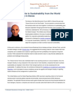 New Developments in Sustainability from the World Economic Forum in Davos