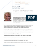 Project Management vs Quality – How to Stop Making Each Other Crazy!