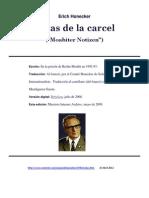 Erich Honecker Notas de La Carcel