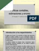 Sección 10 Políticas contables, estimaciones y errores