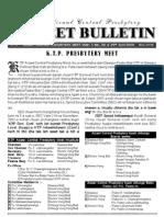 KTP Azl Central Presby Meet Bulletin 2009