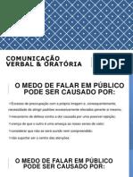 COMUNICAÇÃO VERBAL & ORATÓRIA