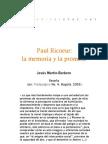Paul Ricoeur La Memoria y Promesa x Jesus M Barbero