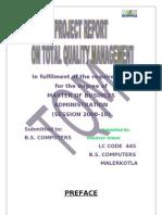 Total Quality Management on Seasons Iecream Agra