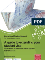 Guide to Extending Your Student Visa 2012-13 Version 1