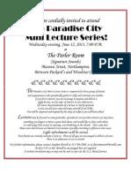 13-06-12 Invitation, Paradise City Mini Lecture Series