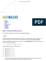 Crear Una Matriz en Java _ Linea de Codigo