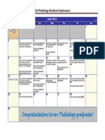 SLUSOM Pathology Resident Conference Calendar