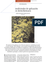 Plantas Medicinales en Dermofarmacia
