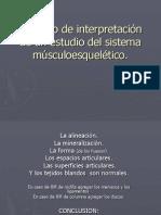 8.7 Formato de interpretación de un estudio del sistema músculoesquelético