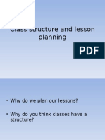 Class Structure and Lesson Planning
