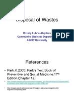3 Disposal of Wastes