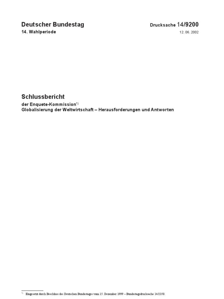 Globalisierung (Enquete Kommission)