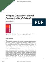 Philippe Chevallier, Mic...Ult Et Le Christianisme