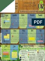 Calendario Actividades UAZ 2013 - 2014
